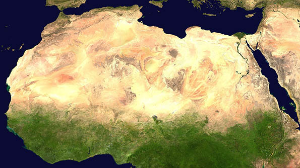 L'Afrique du Sahel et du Sahara à la Méditerranée