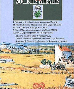 La géographie rurale française en perspective historique
