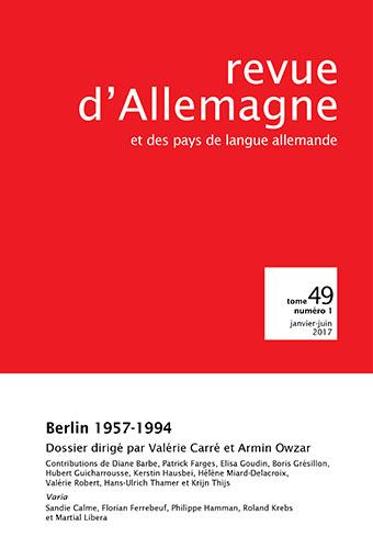 La culture sous le sceau de la guerre froide, Berlin. 1957-1994