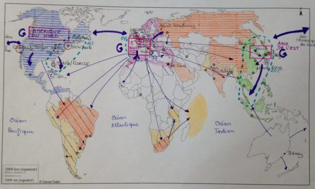 Le tourisme dans le monde : des pôles économiques espaces de tourisme et de loisirs.