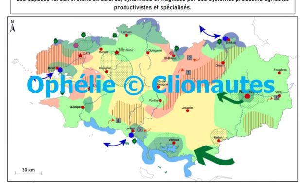 Les espaces ruraux bretons structurés, dynamisés et fragilisés par des systèmes productifs agricoles productivistes et spécialisés