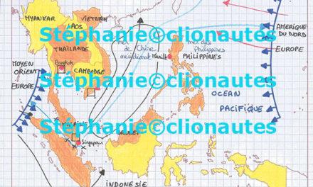Image illustrant l'article brouillon et carte de synthèse Asie sud est affirmation dune de Clio Prépas