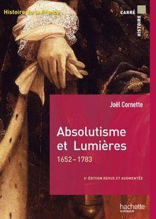 Joël Cornette – Absolutisme et Lumières – 1652-1793, Hachette Supérieur, 2016  Chapitre 8 – 2e partieLe réseau des Lumières: géographie et sociologie de l'opinion
