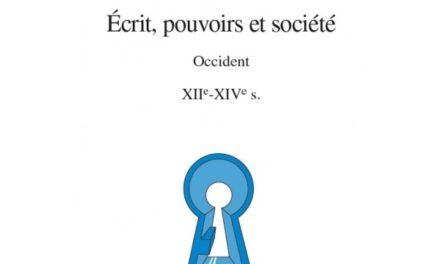 Écrit pouvoirs et société